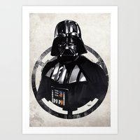 darth vader Art Prints featuring Darth Vader by Yvan Quinet