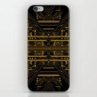 da vinci iPhone & iPod Skins featuring Da Vinci Code by CYRUSCOPE