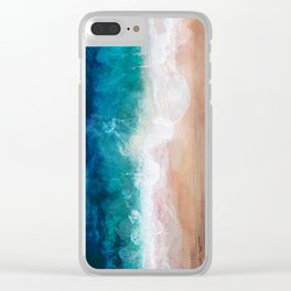 Watercolour Summer Beach IV Clear iPhone Case