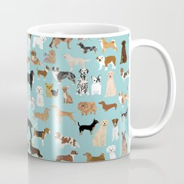 Dogs pattern print must have gifts for dog person mint dog breeds Coffee Mug