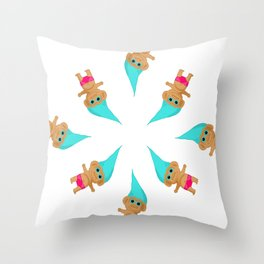 Feelin' Beachy - Troll Kid Throw Pillow