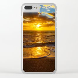 Golden Sunrise Clear iPhone Case