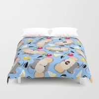 mouse Duvet Covers featuring mouse by Tanya Pligina