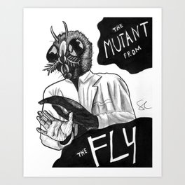 The Mutant from the Fly Art Print
