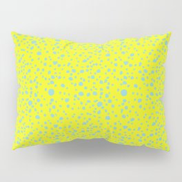 Postmodern Granite Terrazzo Large Scale in Canary Yellow + Mint Pillow Sham