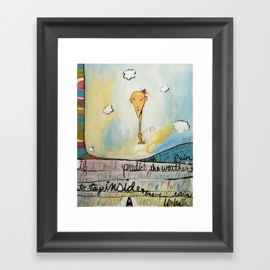 Brave The Rain Framed Art Print