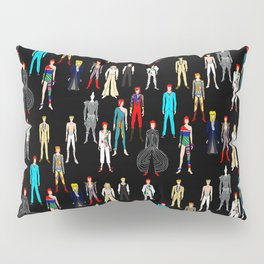 Heroes Scattered Pattern Black Pillow Sham