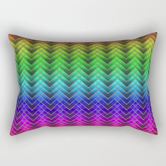 Zigzag pattern rainbow colors Rectangular Pillow