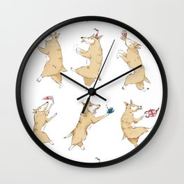 Queen's Corgi Dance Wall Clock