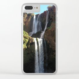 Ouzoud Waterfall Clear iPhone Case