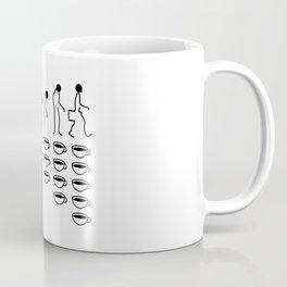 Coffee Evolution (Black & White) Coffee Mug