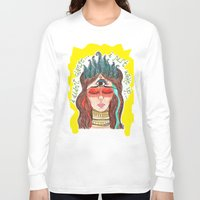 third eye Long Sleeve T-shirts featuring third eye by ivette mancilla