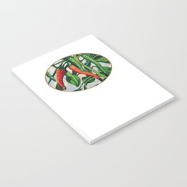 Chili Peppers by KPC Studios Notebook
