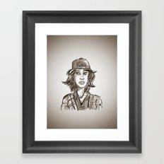 Hypebeast with Braces as a Girl Framed Art Print