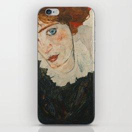Portrait of Wally by Egon Schiele iPhone Skin