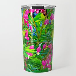GREEN SPRING GARDEN PINK BLEEDING HEARTS Travel Mug