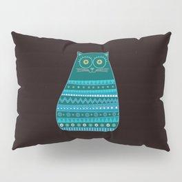 Cat Pattern Blue Pillow Sham