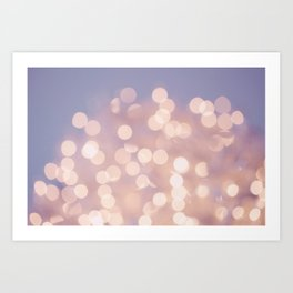 Light Pink Blurry Lights (Color) Art Print
