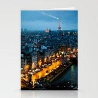 paris Stationery Cards featuring Paris by Luca Spanu