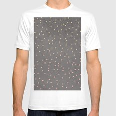 Gold glitter blush pink ombre confetti polka dots grey cement concrete White MEDIUM Mens Fitted Tee