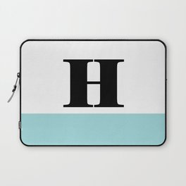 Monogram Letter H-Pantone-Limpet Shell Laptop Sleeve