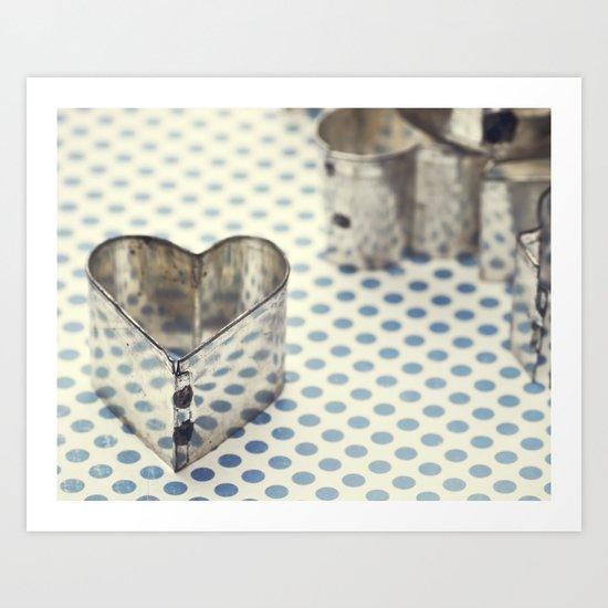 Bright Shining Heart Art Print