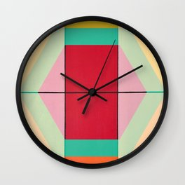 August - color Wall Clock