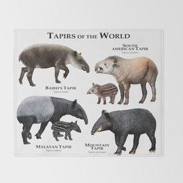 Tapirs of the World Throw Blanket