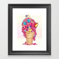 Ice-Cream Zombie Girl Framed Art Print