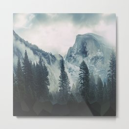 Cross Mountains Metal Print