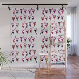 red purple cats Wall Mural