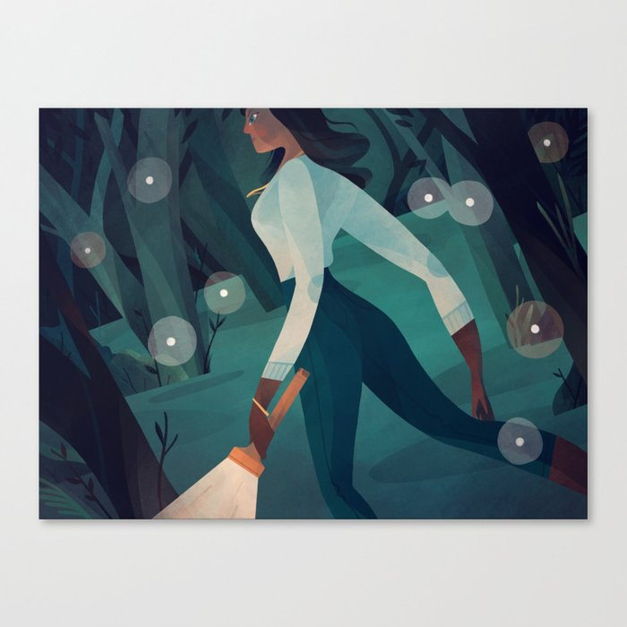 Night in the Woods Canvas Print