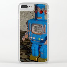 Robot & Son Clear iPhone Case