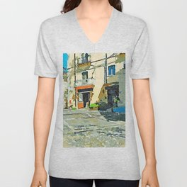 Glimpse square with bar Unisex V-Neck