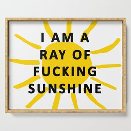 ray of sunshine Serving Tray
