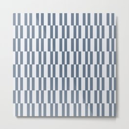 Matera Blue Stripe Metal Print