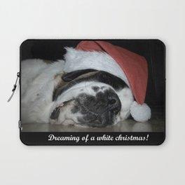 Christmas St Bernard dog Laptop Sleeve
