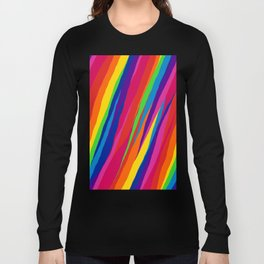 Wonky Rainbow Stripes Long Sleeve T-shirt