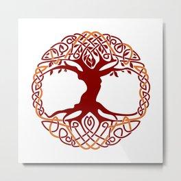 Yggdrasil Tree Of Life Metal Print