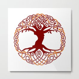 Yggdrasil Tree Of Life Metal Print
