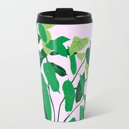 ficus on pink background Travel Mug