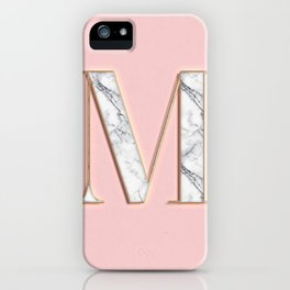 M letter monoram iPhone Case