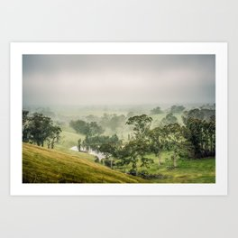 Mist Valley Art Print