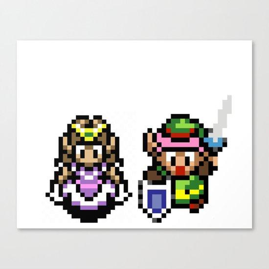 Zelda and Link Canvas Print