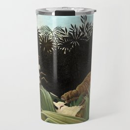 Henri Rousseau - Scouts Attacked by a Tiger Travel Mug