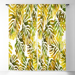 Sunset Tropical Leaves Abstract Blackout Curtain