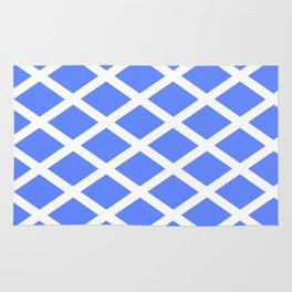 abstraction from the flag of scotland. Rug