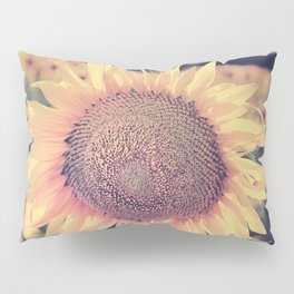 """Sunflowers"" Vintage dreams. Square Pillow Sham"