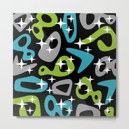 Retro Mid Century Modern Abstract Composition 675 Metal Print