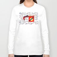bazinga Long Sleeve T-shirts featuring BAZINGA!   -   012 by Lazy Bones Studios